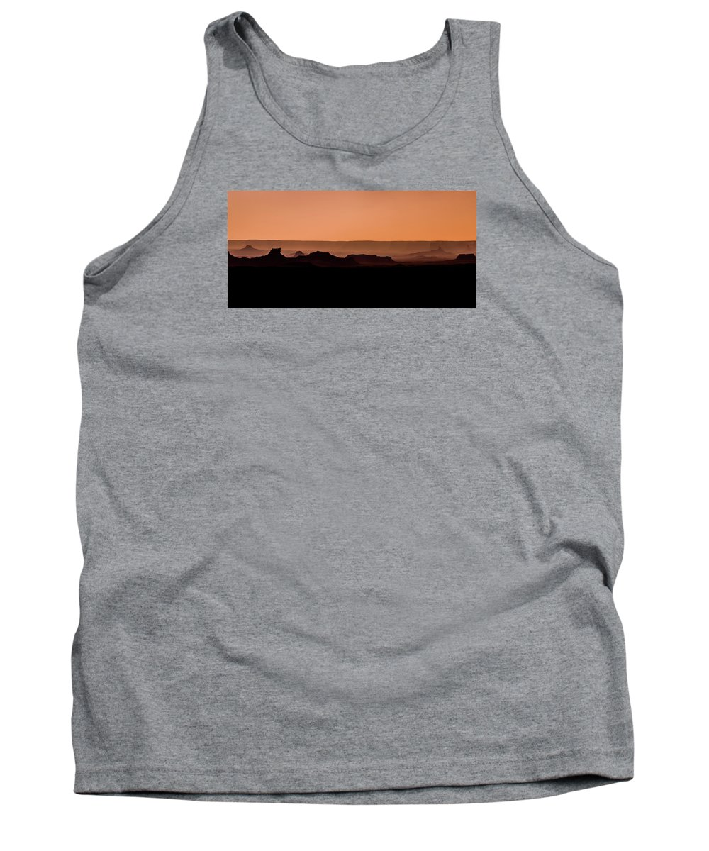 Silhouette Tank Top featuring the photograph Valley Of The Gods by Spencer Bawden