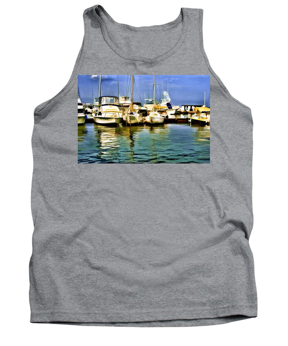 Yacht Club Tank Top featuring the photograph Yacht Club by Galeria Trompiz