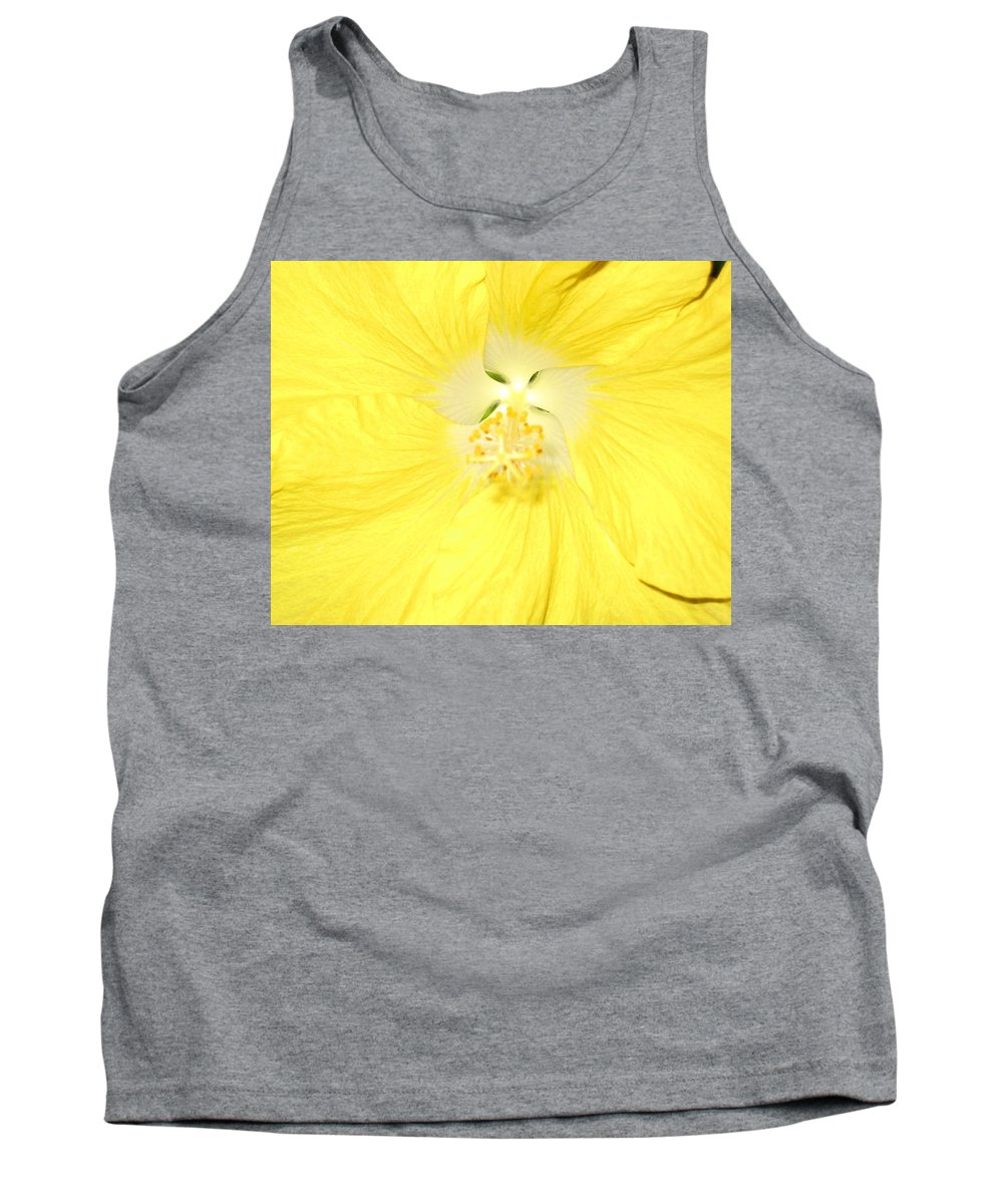 Flower Tank Top featuring the photograph Yellow Hibiscus by Debbie Levene