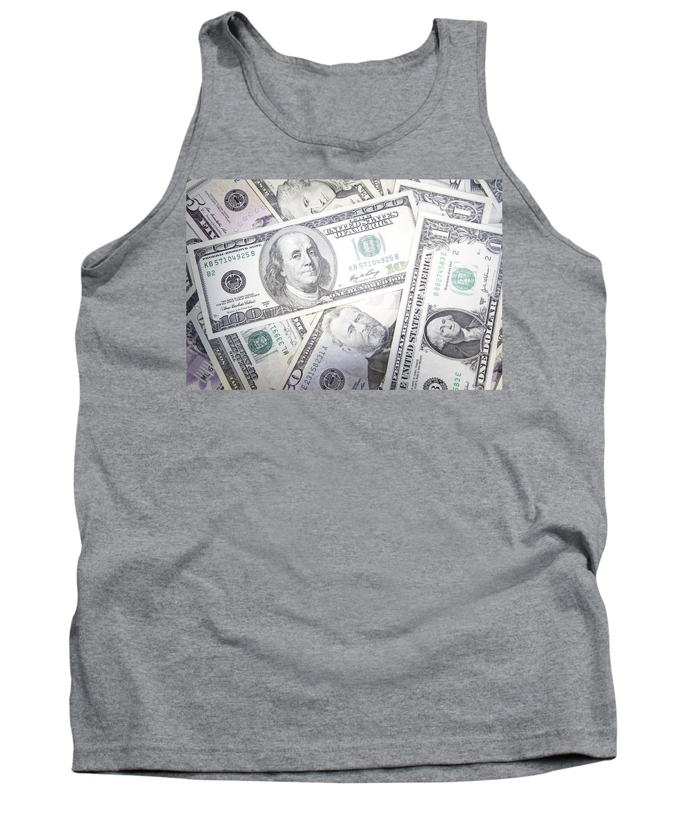 Money Tank Top featuring the photograph American Banknotes 3 by Les Cunliffe