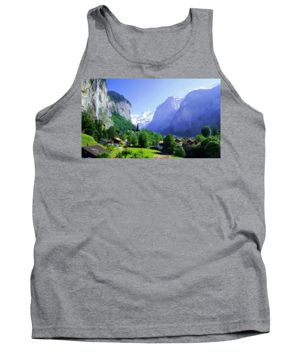 Landscape Tank Top featuring the digital art Show Landscape by Usa Map