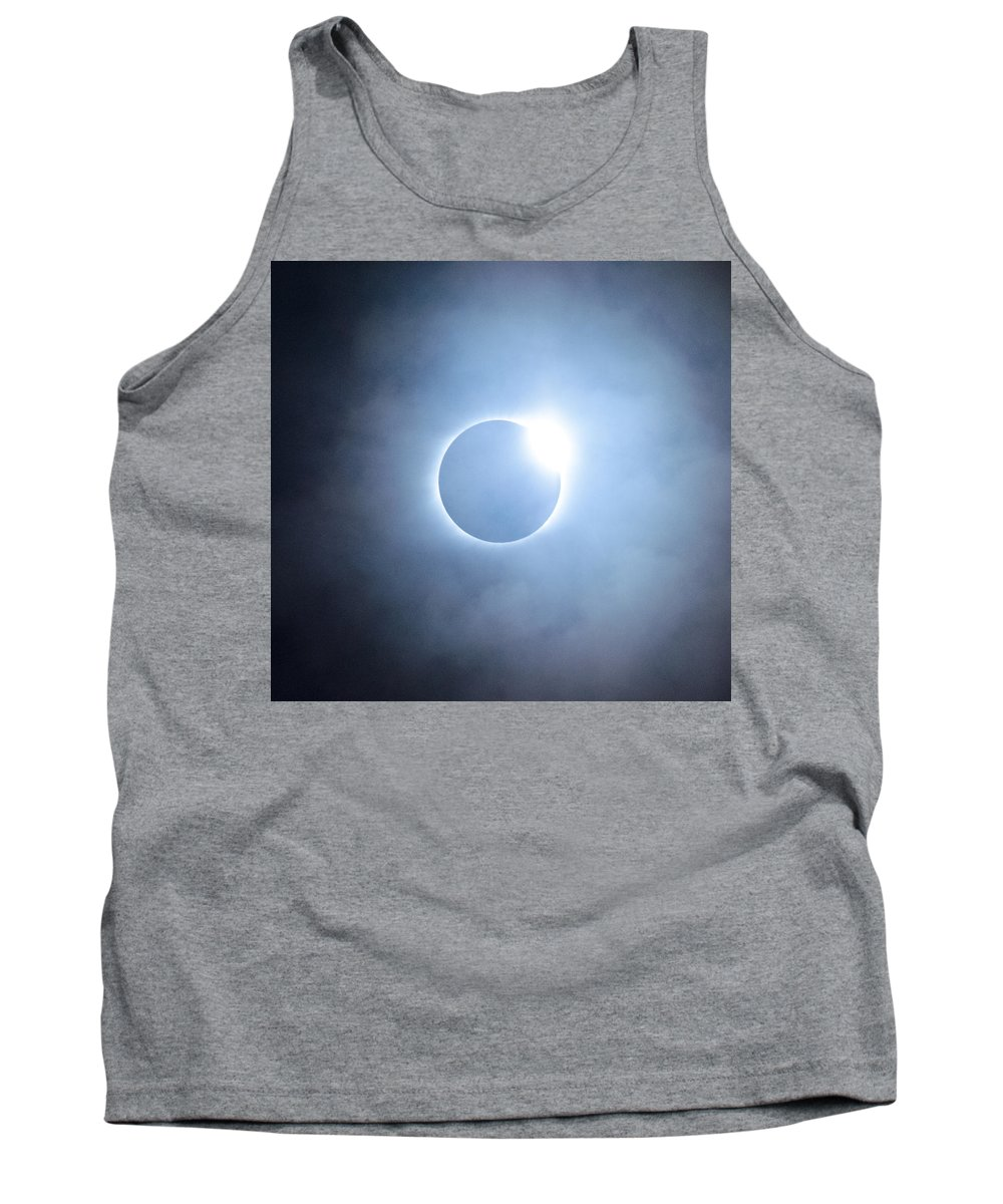 Eclipse Tank Top featuring the photograph #24 August 2017 Solar Eclipse by John Diebolt