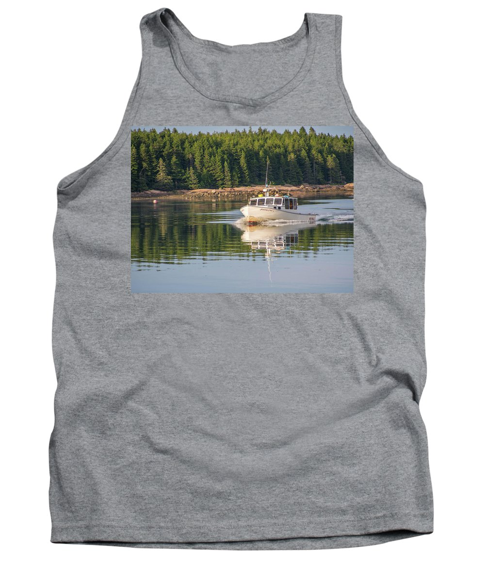 Jonesport Tank Top featuring the photograph Down East Maine by Trace Kittrell