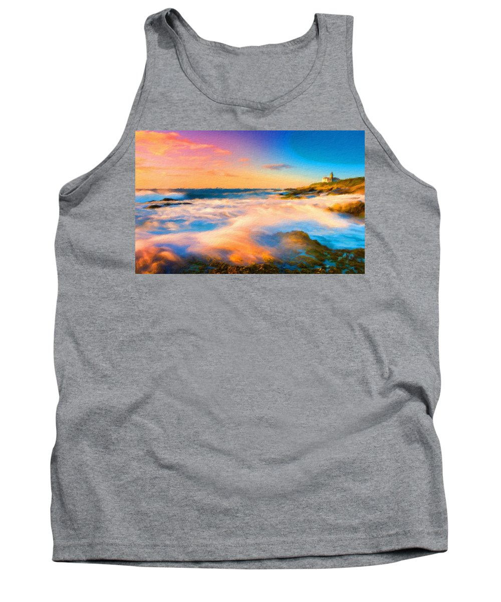 C Tank Top featuring the digital art Landscape N More by Usa Map
