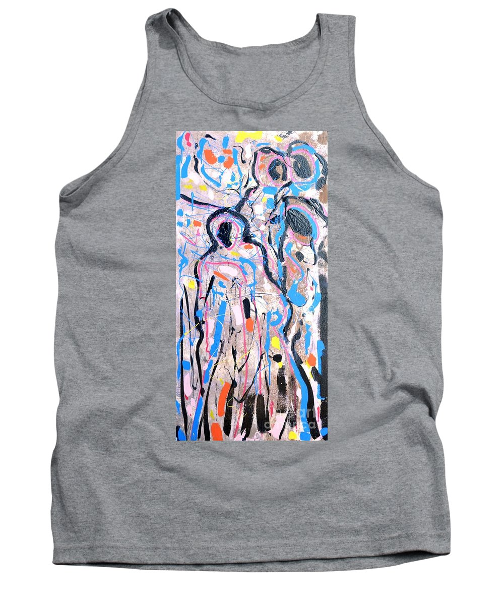 Surrealism Tank Top featuring the painting Challenge 2017- Diabetes Find A Cure by Grace Divine