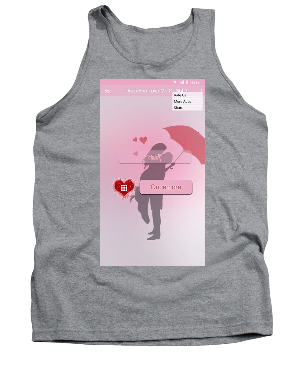 She Tank Top featuring the mixed media Does She Love Me Or Not? by Skyscape Technolab
