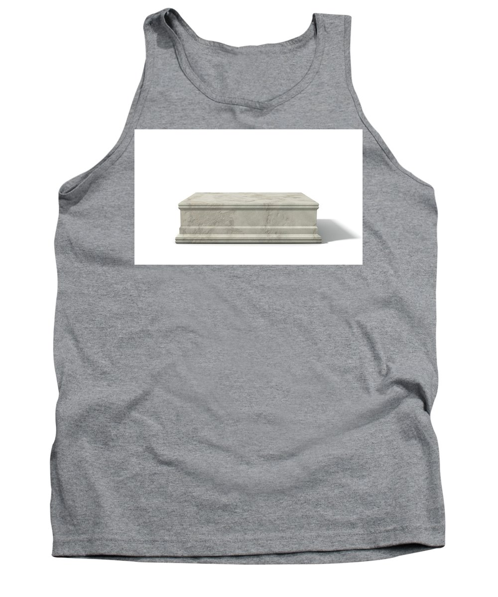 Trophy Tank Top featuring the digital art Empty Trophy Base by Allan Swart