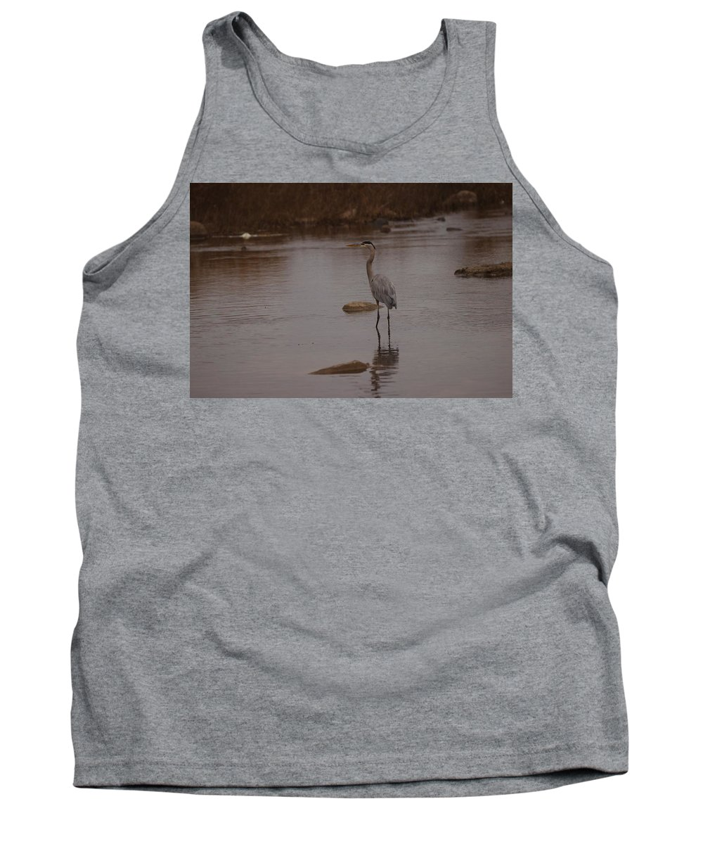 Great Tank Top featuring the photograph Great Blue Heron by James Smullins