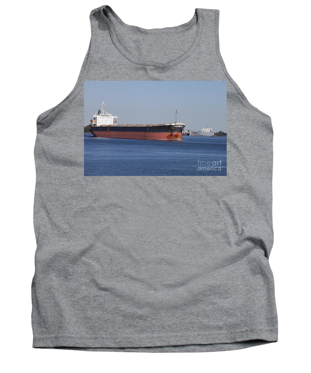 Transportation Tank Top featuring the photograph Shipping - New Orleans Louisiana by Anthony Totah