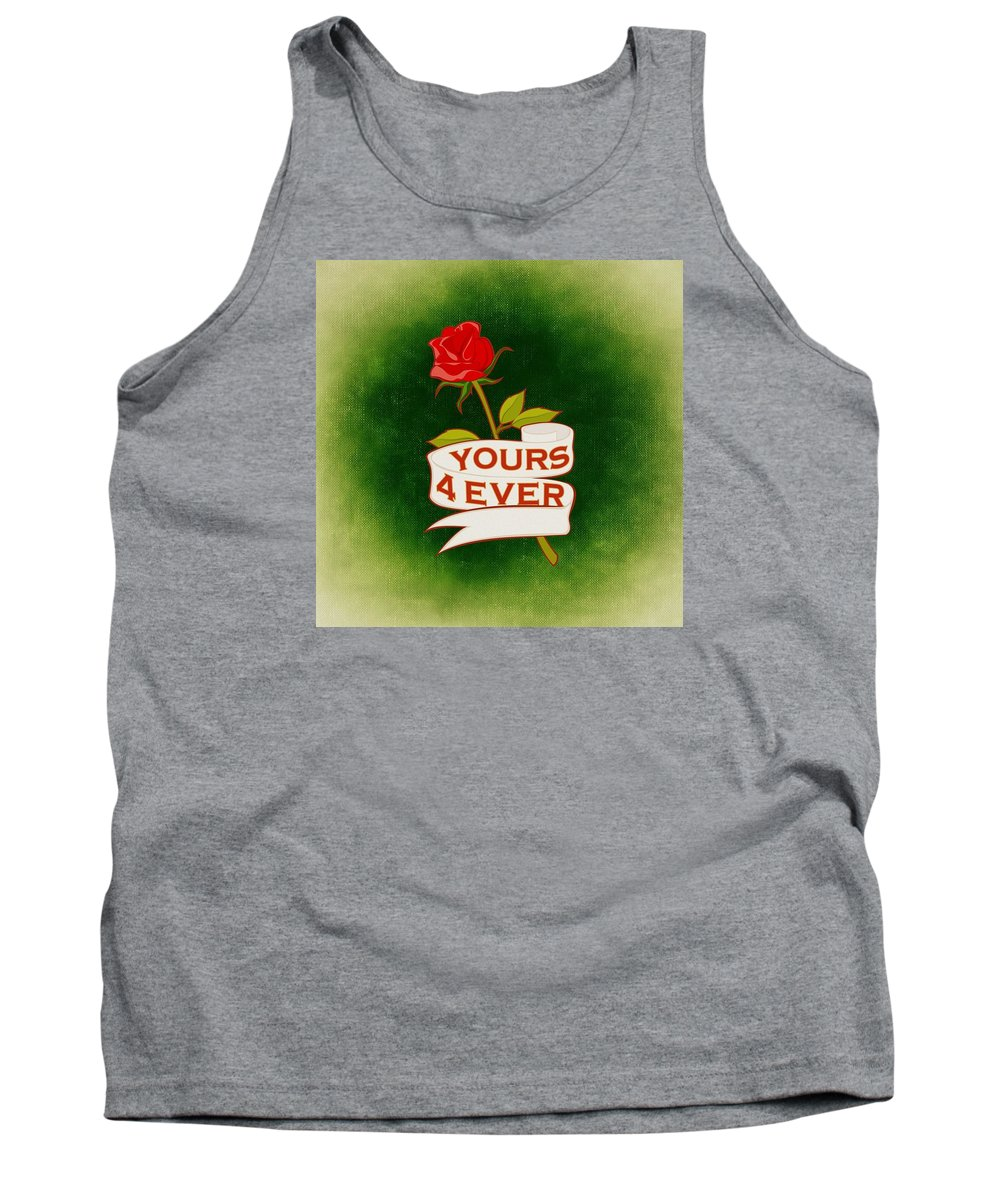 Valentine Tank Top featuring the mixed media Valentines by FL collection