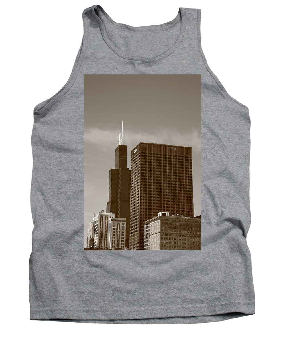 America Tank Top featuring the photograph Chicago Skyline by Frank Romeo