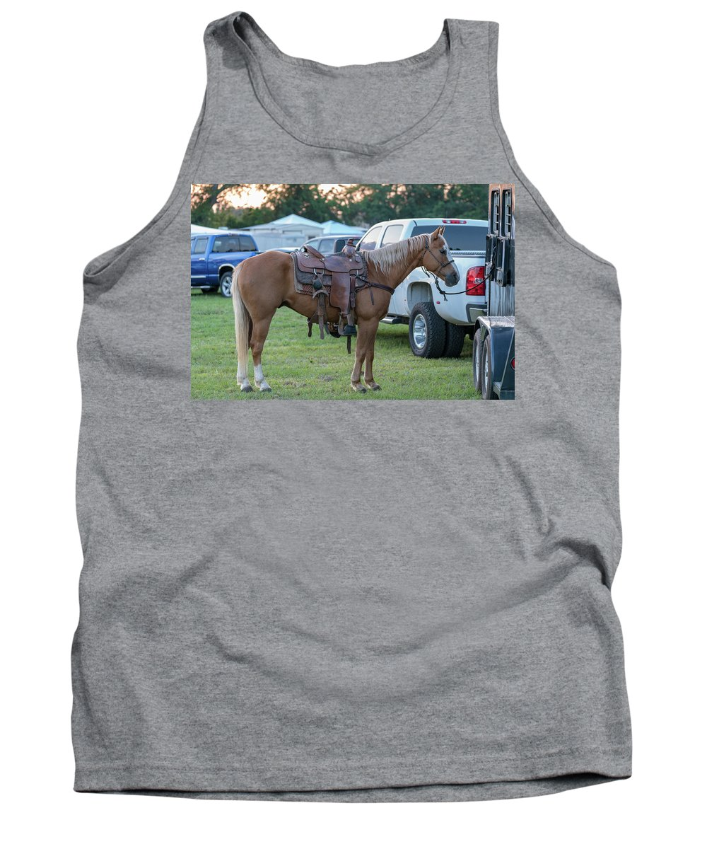 Rodeo Tank Top featuring the photograph Horse by Glenn Matthews