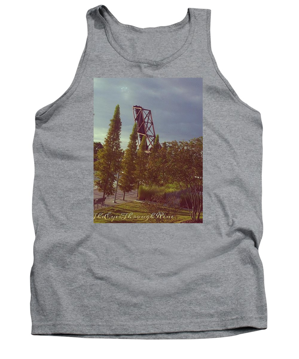 Riverwalk Tank Top featuring the photograph 4 Liner by Rene GrayMitchell