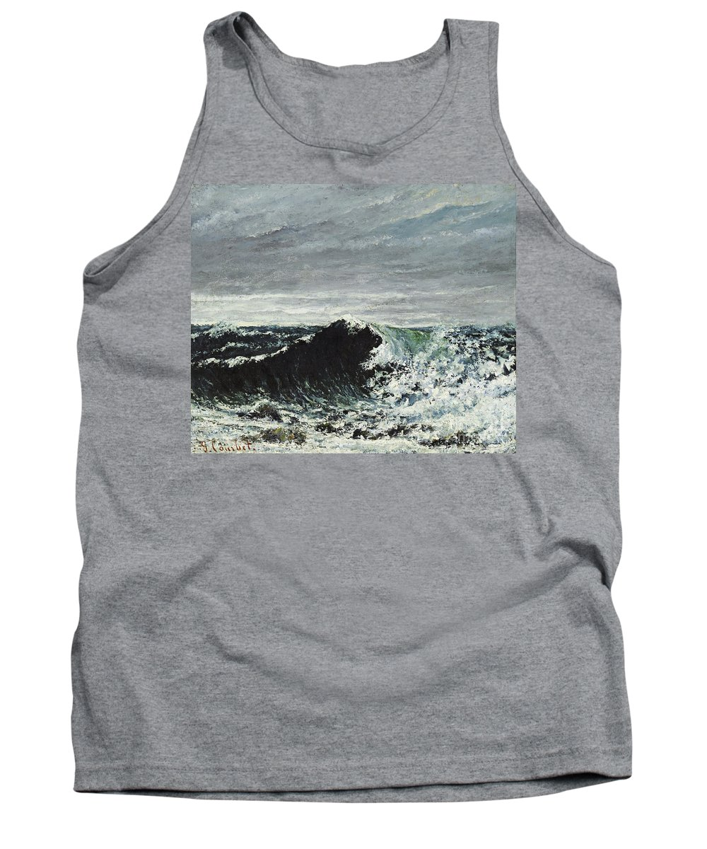 Gustave Courbet Tank Top featuring the painting The Wave by Celestial Images