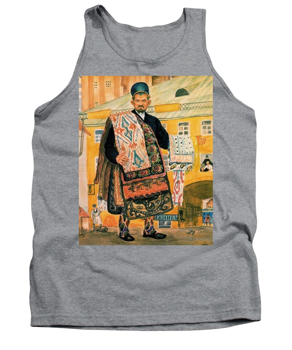 Costume Tank Top featuring the digital art 43770 Boris Kustodiev by Eloisa Mannion