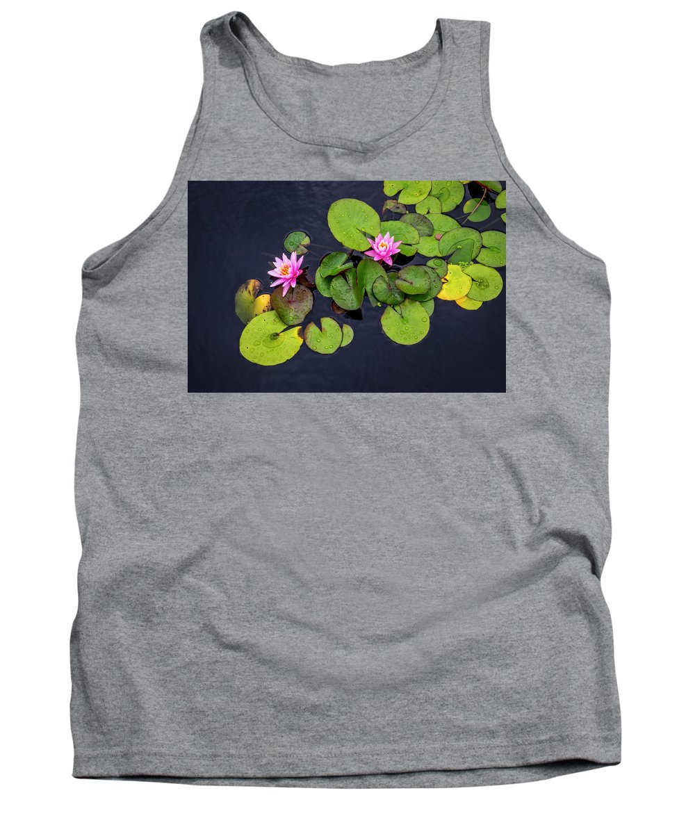 Lily Pad Tank Top featuring the photograph 4425- Lily Pads by David Lange