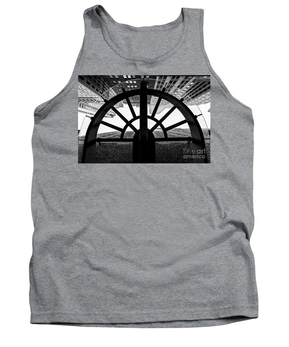 Symmetry Tank Top featuring the photograph 45 Wall Street, Lower Manhattan New York by Edi Chen