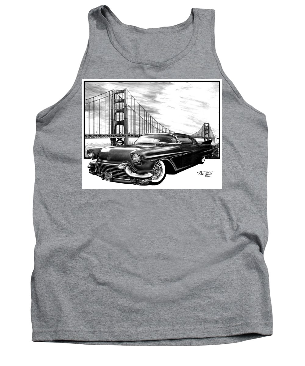 57 Fat Cad Tank Top featuring the drawing 57 Fat Cad by Peter Piatt