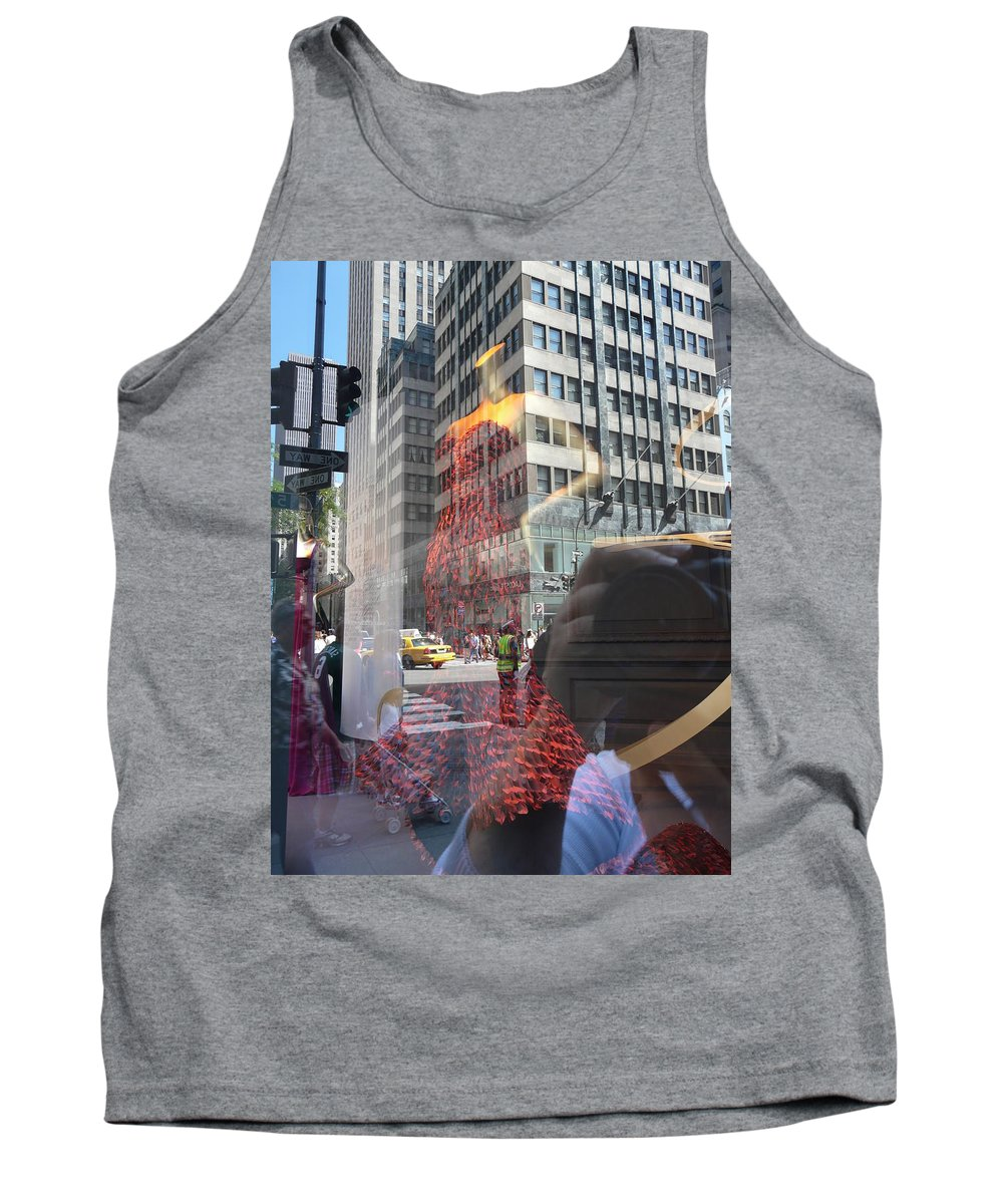 New York Tank Top featuring the photograph 5th Avenue by Valerie Ornstein