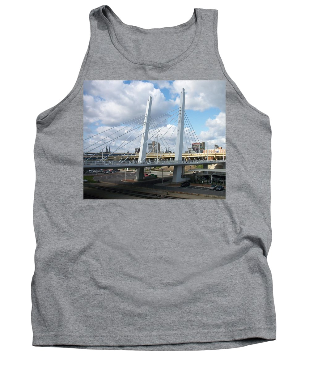 Bridge Tank Top featuring the photograph 6th Street Bridge by Anita Burgermeister
