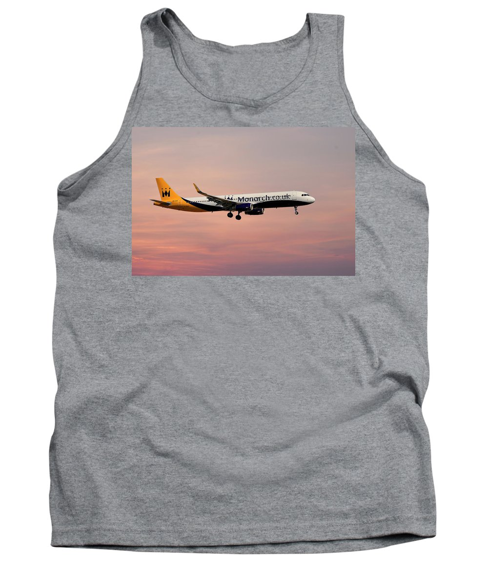Monarch Tank Top featuring the photograph Monarch Airlines Airbus A321-231 by Smart Aviation
