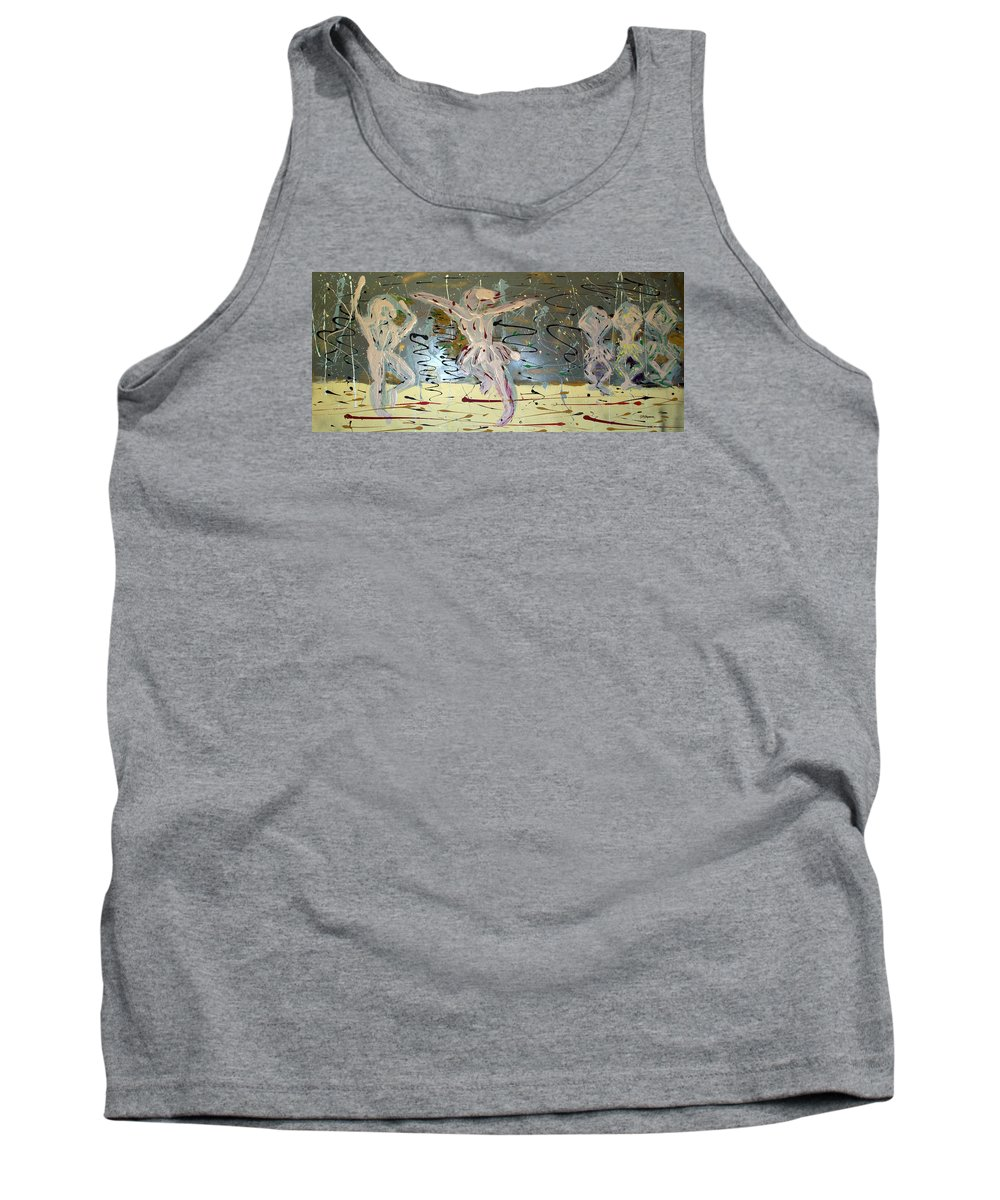 Impressionist Painting Tank Top featuring the painting A Ballet Scene by J R Seymour