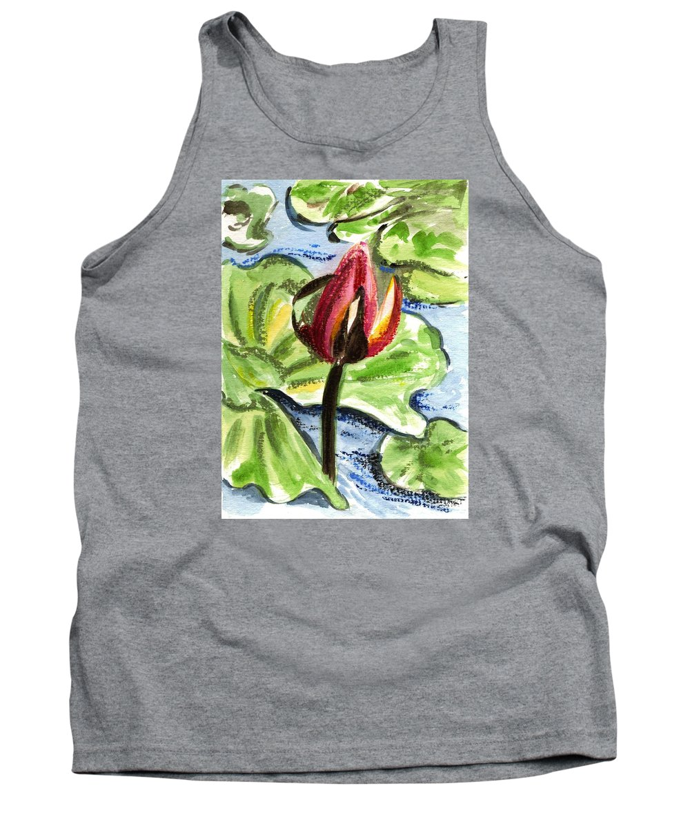 Water Lilies Tank Top featuring the painting A Birth Of A Life by Harsh Malik