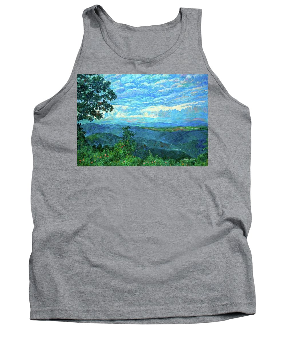 Mountains Tank Top featuring the painting A Break In The Clouds by Kendall Kessler