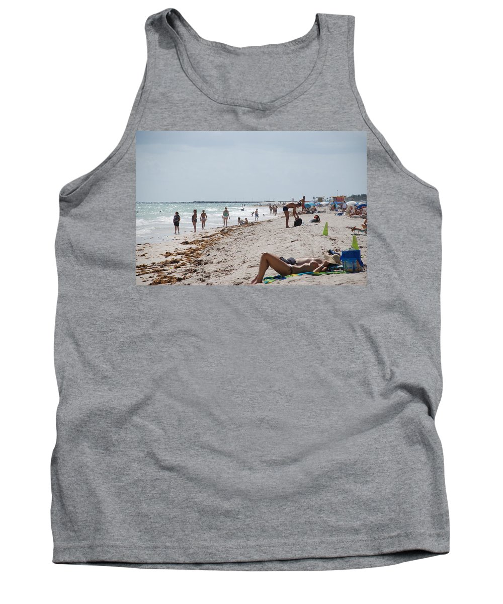 Nude Tank Top featuring the photograph A Day At Paradise Beach by Rob Hans