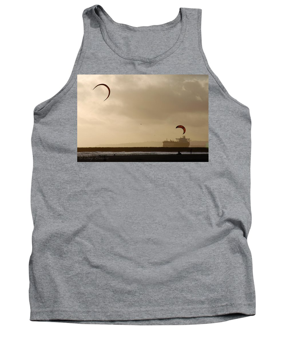 Clay Tank Top featuring the photograph A Day At The Beach by Clayton Bruster