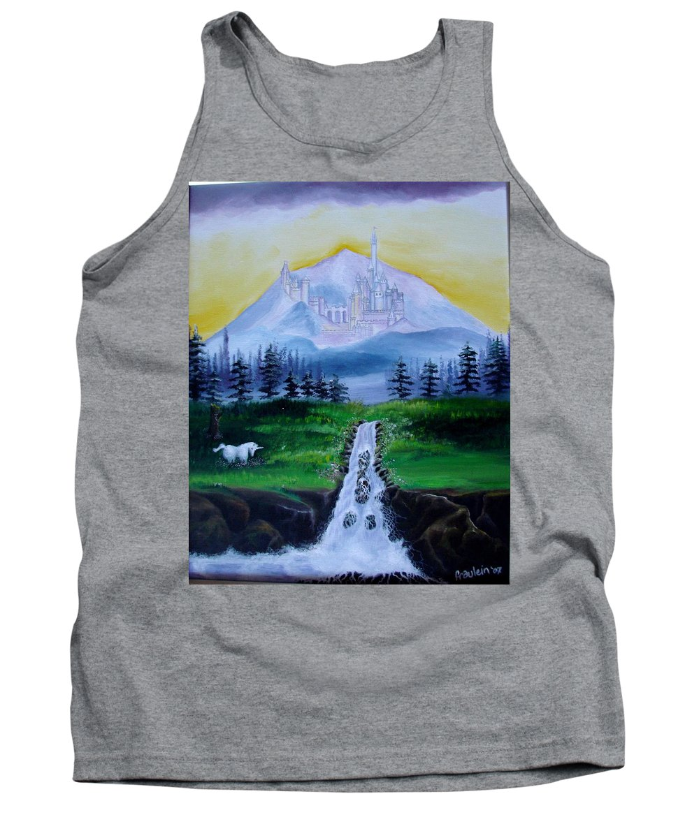 Landscape Tank Top featuring the painting A Fairytale by Glory Fraulein Wolfe