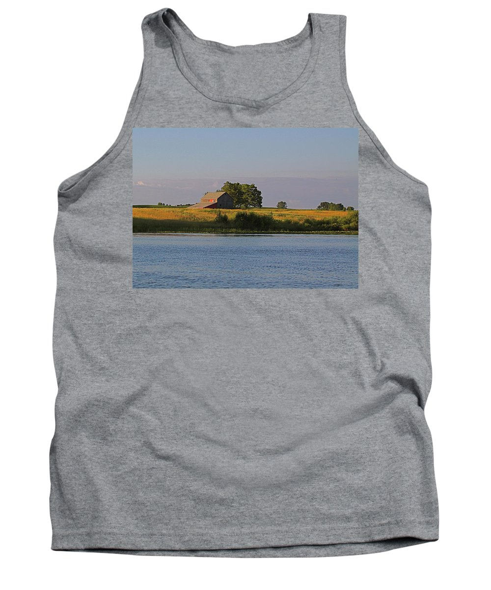 Related Tags: Farms Artwork Tank Top featuring the photograph A June Evening by Robert Pearson