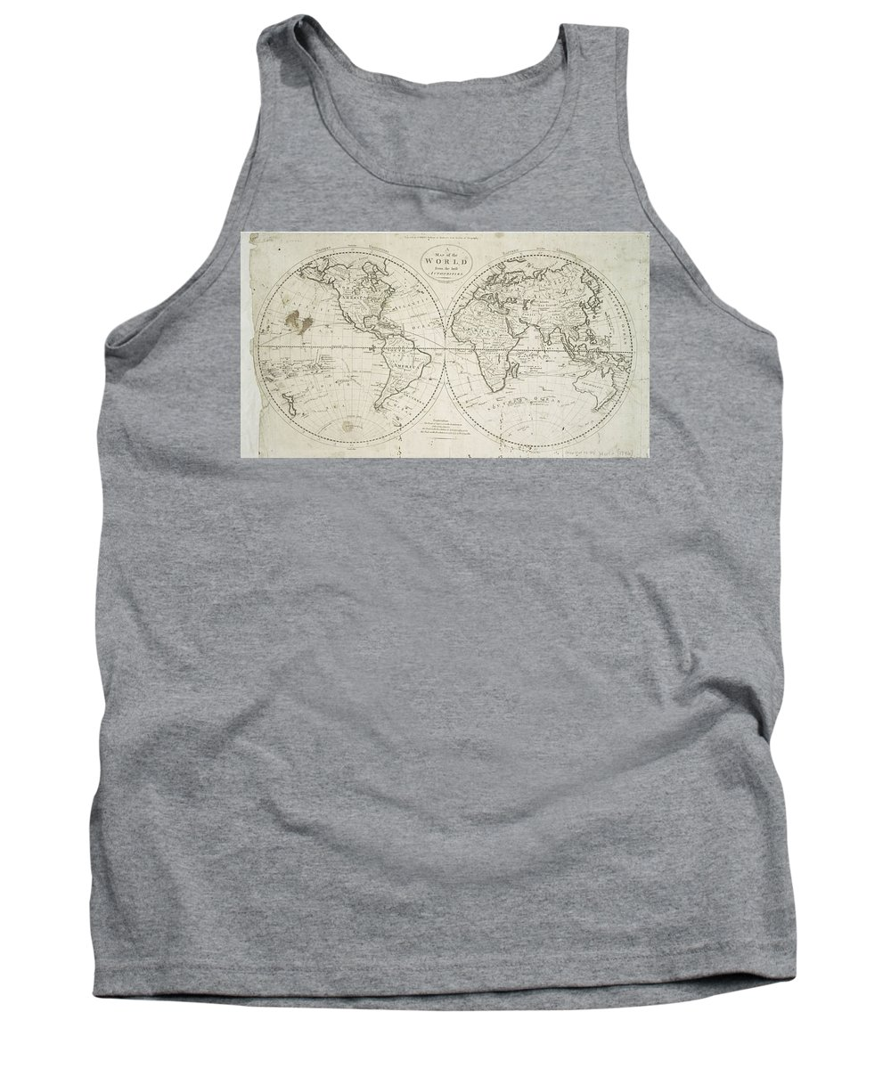 Map Tank Top featuring the photograph A Map Of The World From The Best Authorities by Paul Fearn