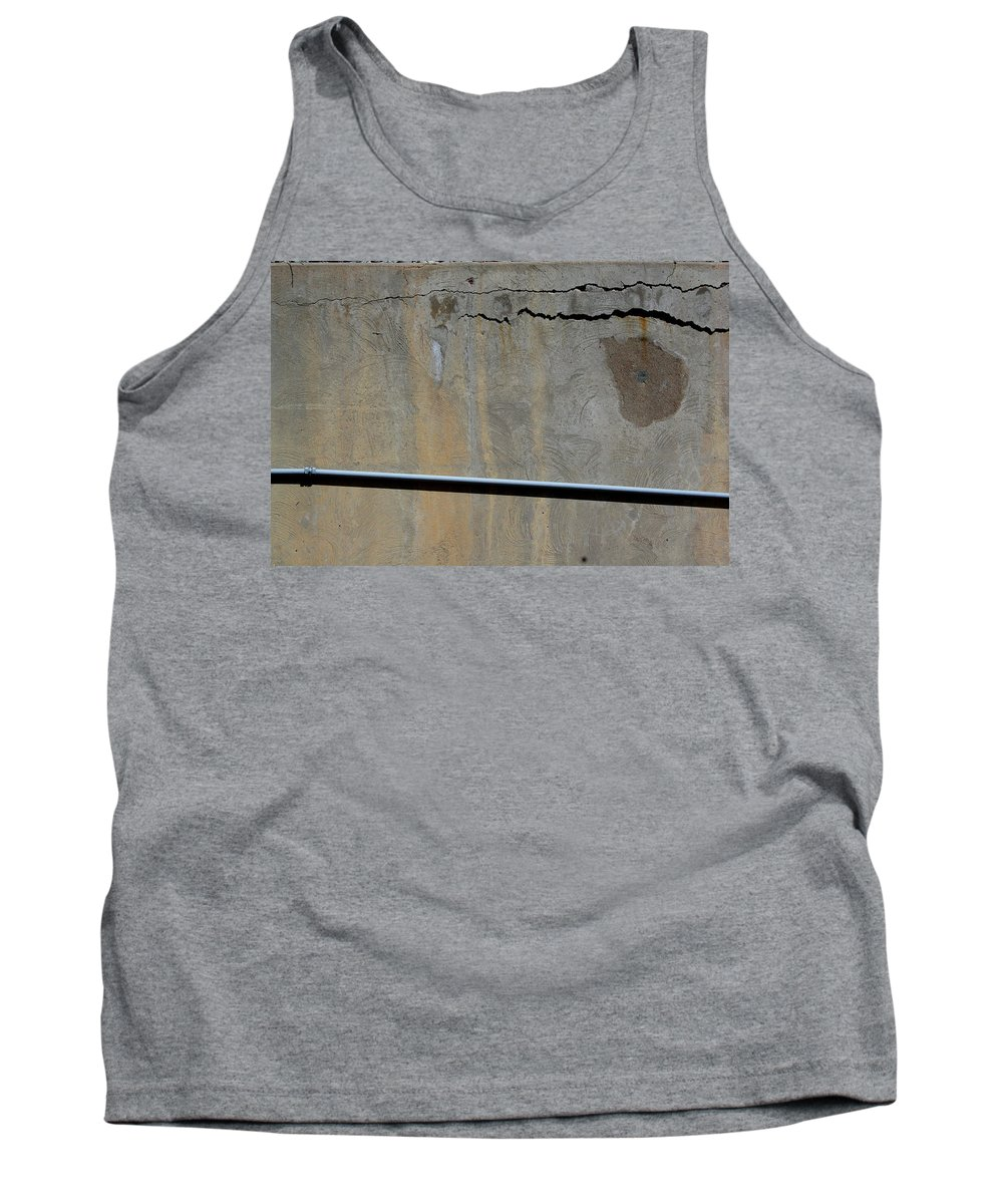 Wall Tank Top featuring the photograph A Mean Wall by Ric Bascobert
