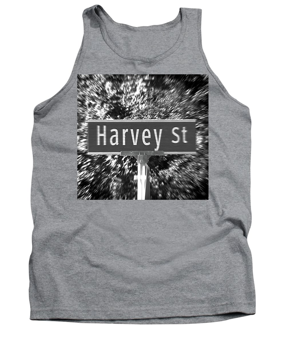 Harvey Tank Top featuring the photograph Ha - A Street Sign Named Harvey by Jenifer West