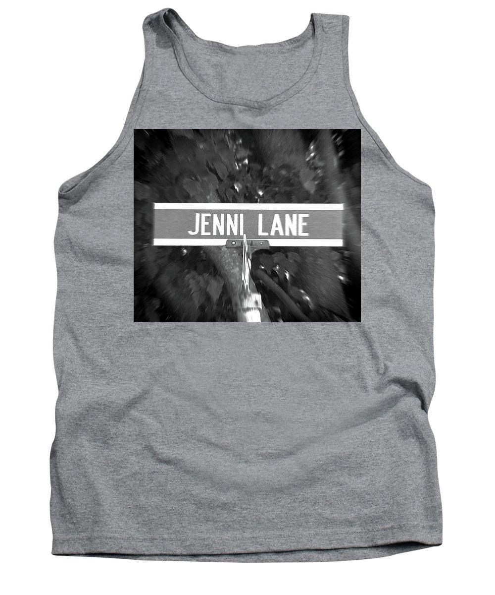 Jenni Tank Top featuring the photograph Je - A Street Sign Named Jenni by Jenifer West
