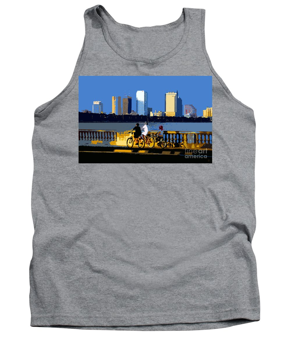 Tampa Bay Florida Tank Top featuring the painting A Tampa Bay Florida Summer by David Lee Thompson