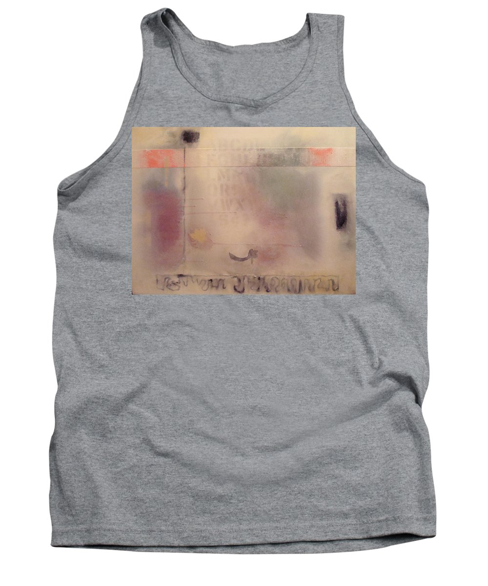 Abstract Tank Top featuring the painting A Thought Of Stillness by W Todd Durrance