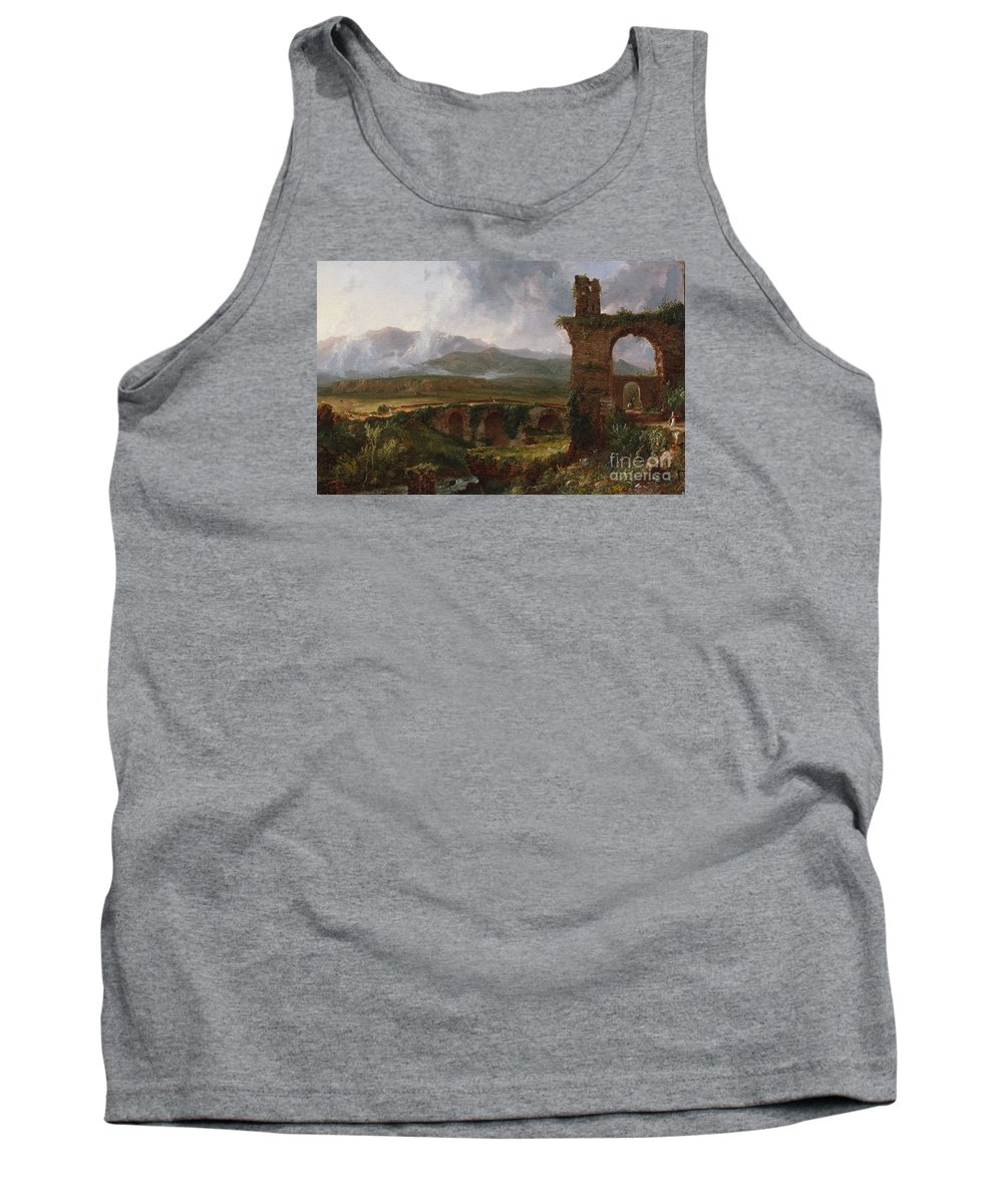 Thomas Cole Tank Top featuring the painting A View Near Tivoli by Celestial Images