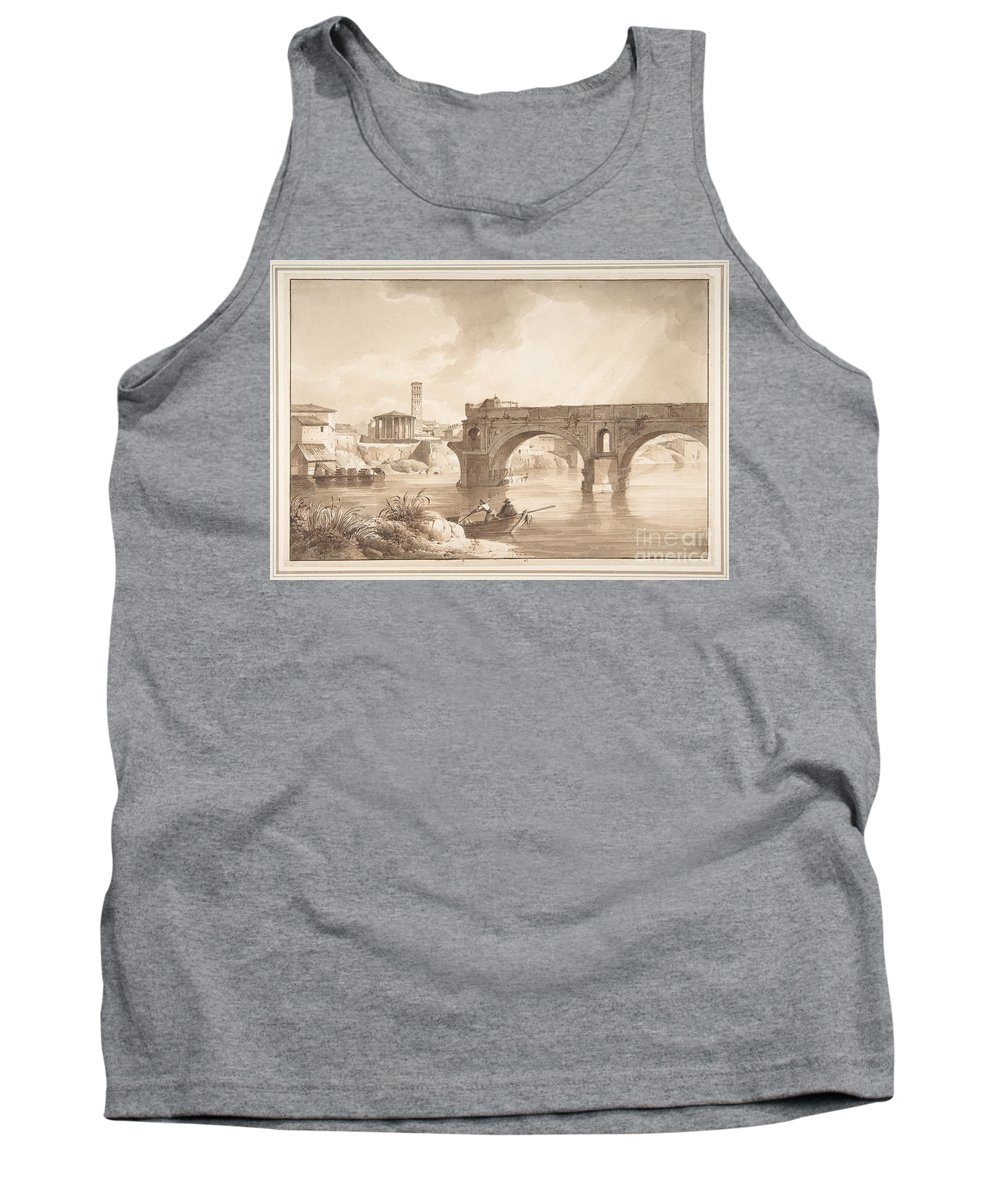 Art Tank Top featuring the painting A View Of The Tiber From The North Bank by Celestial Images