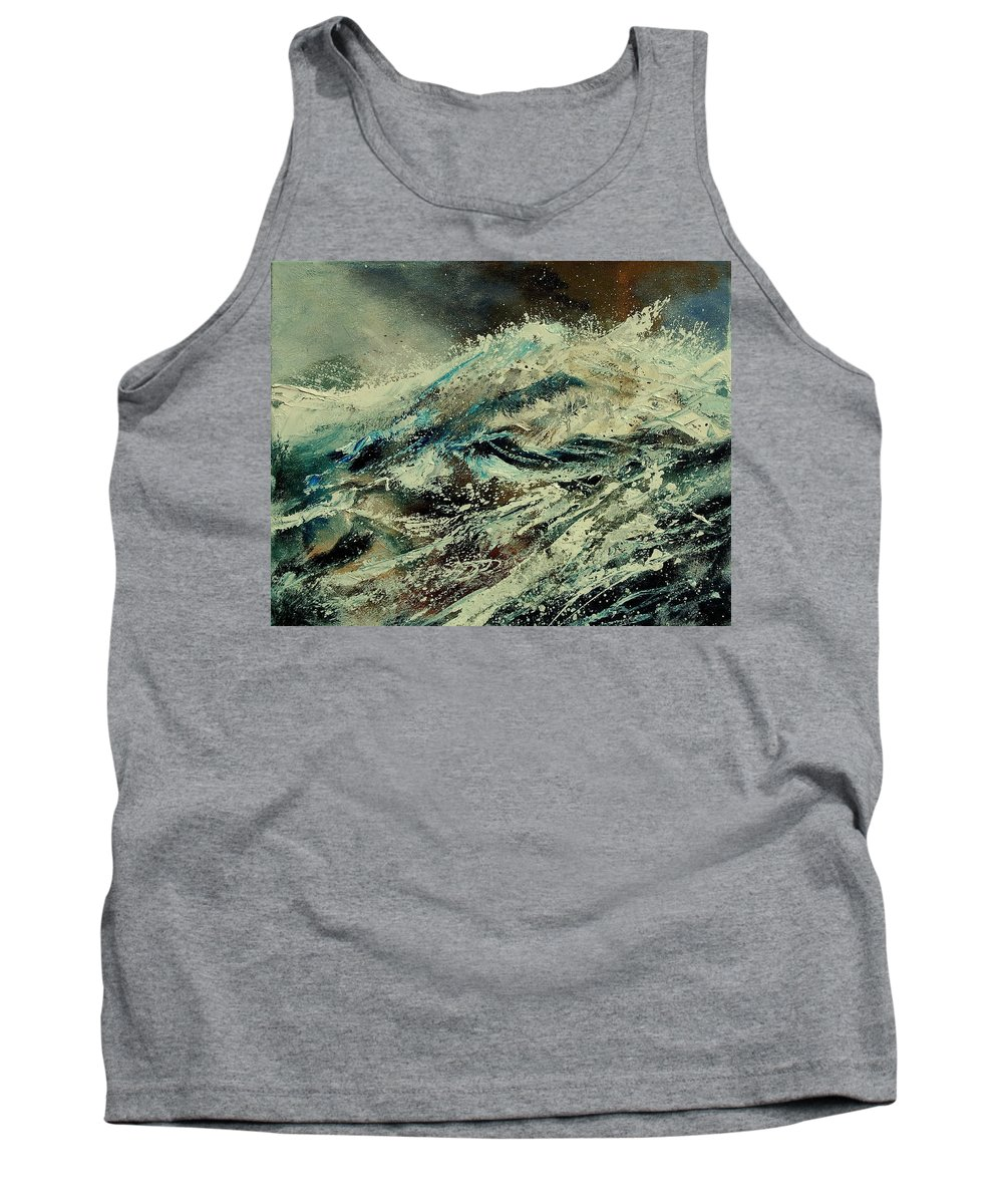 Sea Tank Top featuring the painting A Wave by Pol Ledent