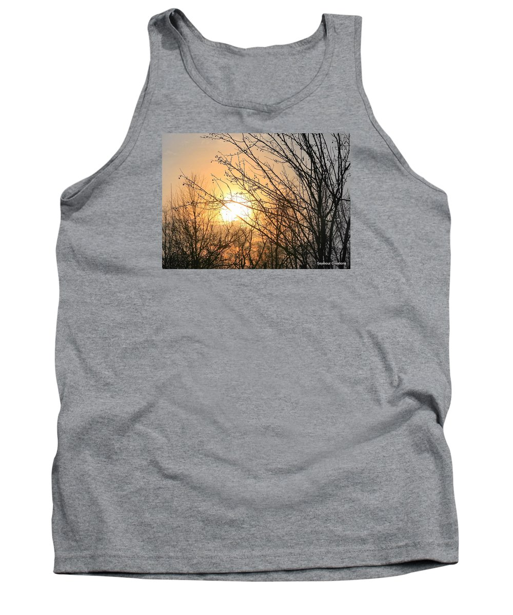 Sun Tank Top featuring the photograph A Winter's Day After Glow by J R Seymour
