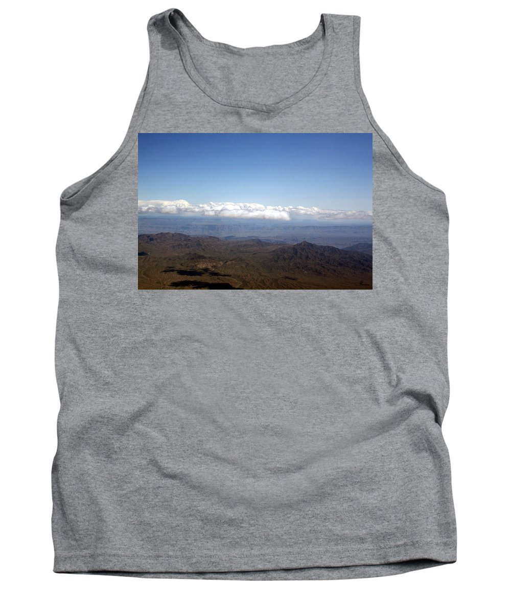 Nevada Desert Clouds Scenery Hills Landscape Sky Canyon Tank Top featuring the photograph Above Nevada by Andrea Lawrence