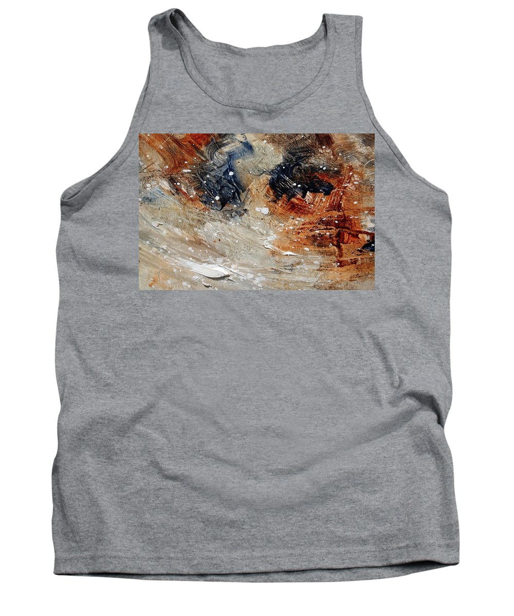 Abstract Tank Top featuring the painting Abstract 1236 by Pol Ledent