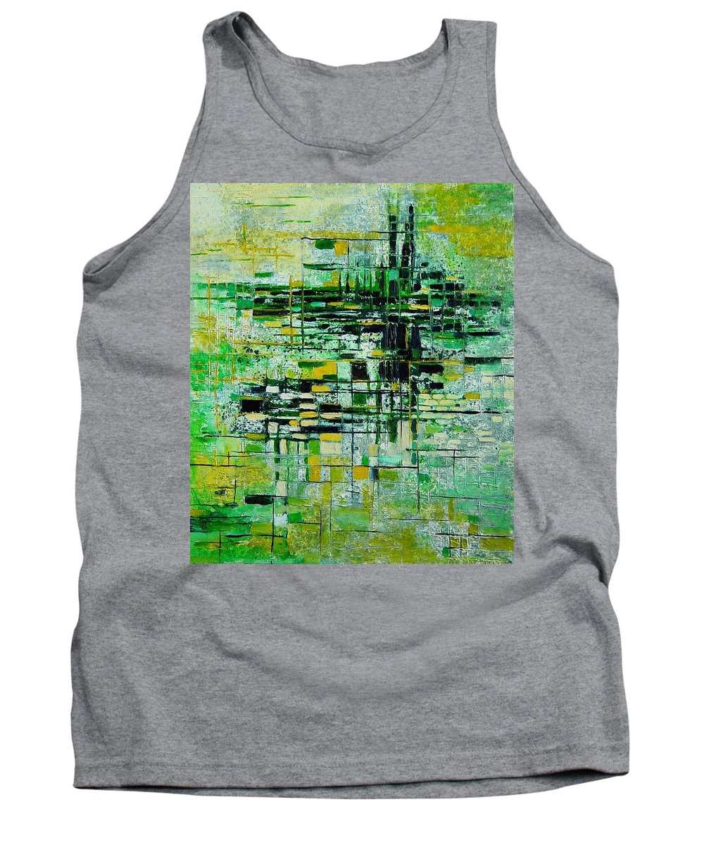 Abstract Tank Top featuring the painting Abstract 5 by Pol Ledent