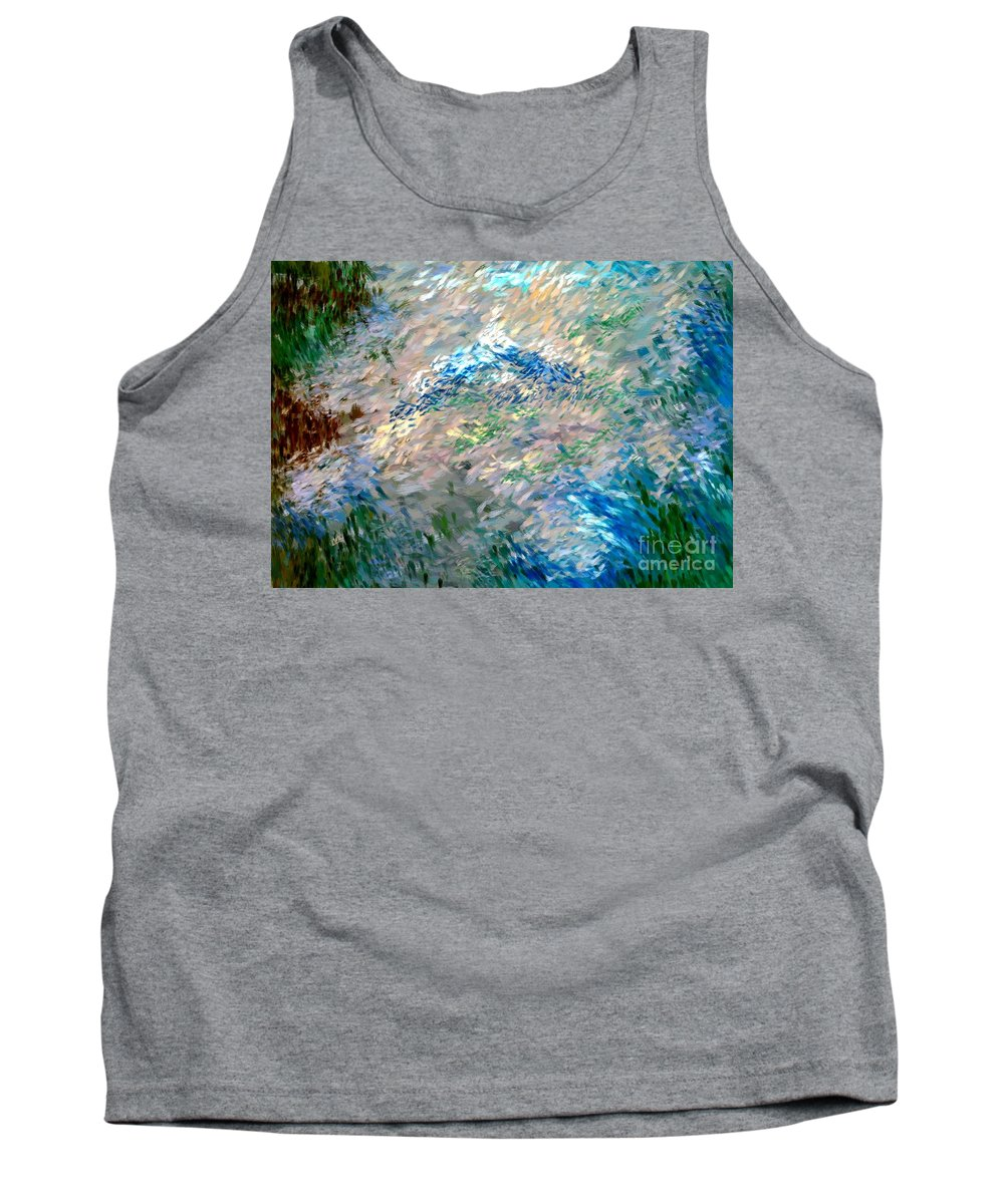 Abstract Tank Top featuring the digital art Abstract 6-03-09 A by David Lane