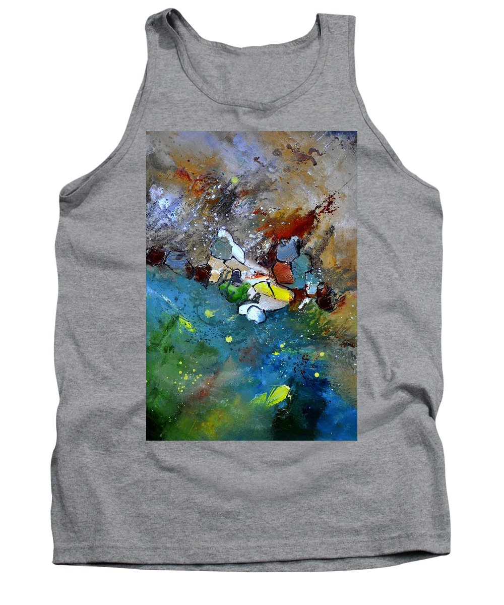 Abstract Tank Top featuring the painting Abstract 66018002 by Pol Ledent