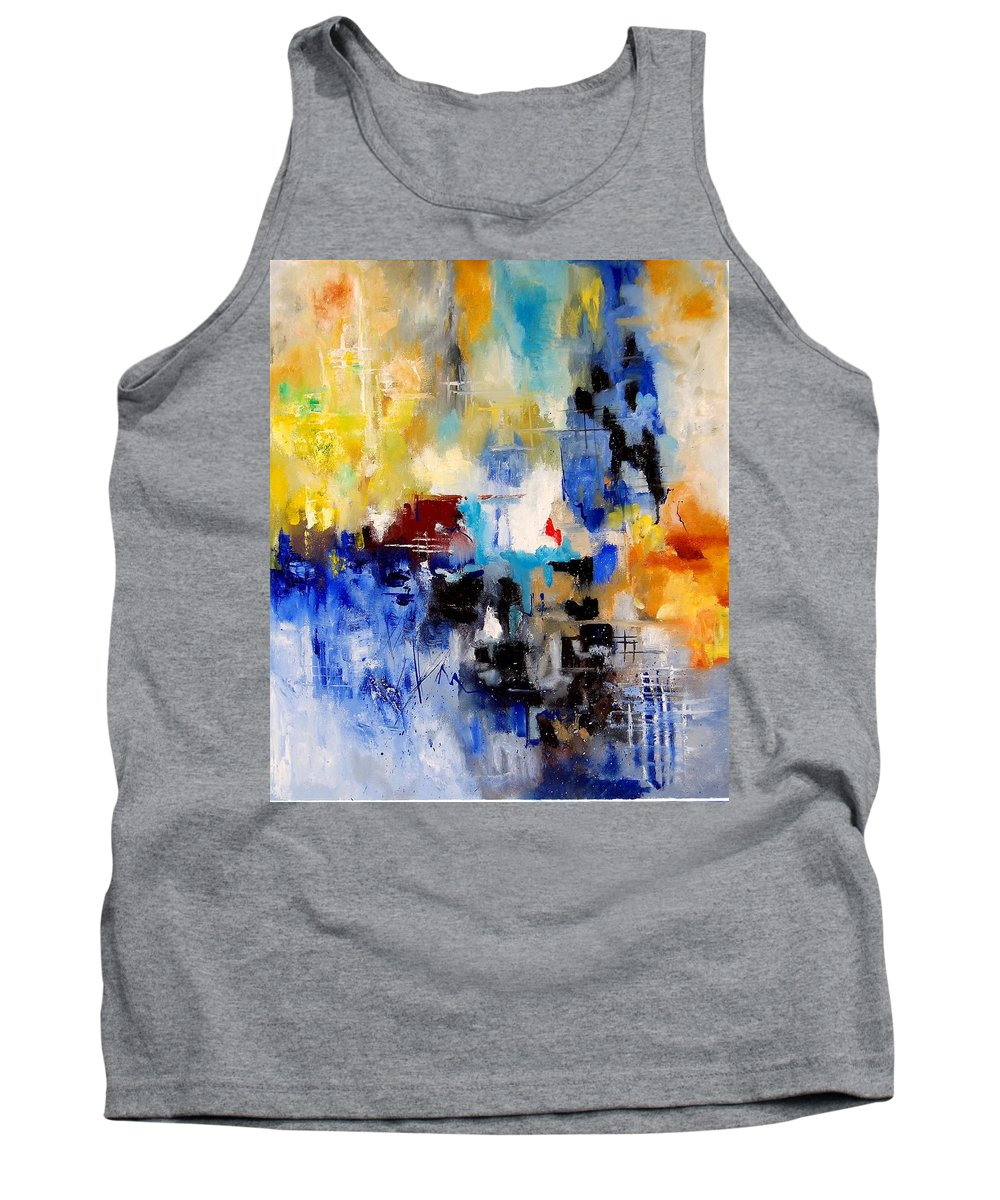 Abstract Tank Top featuring the painting Abstract 905003 by Pol Ledent