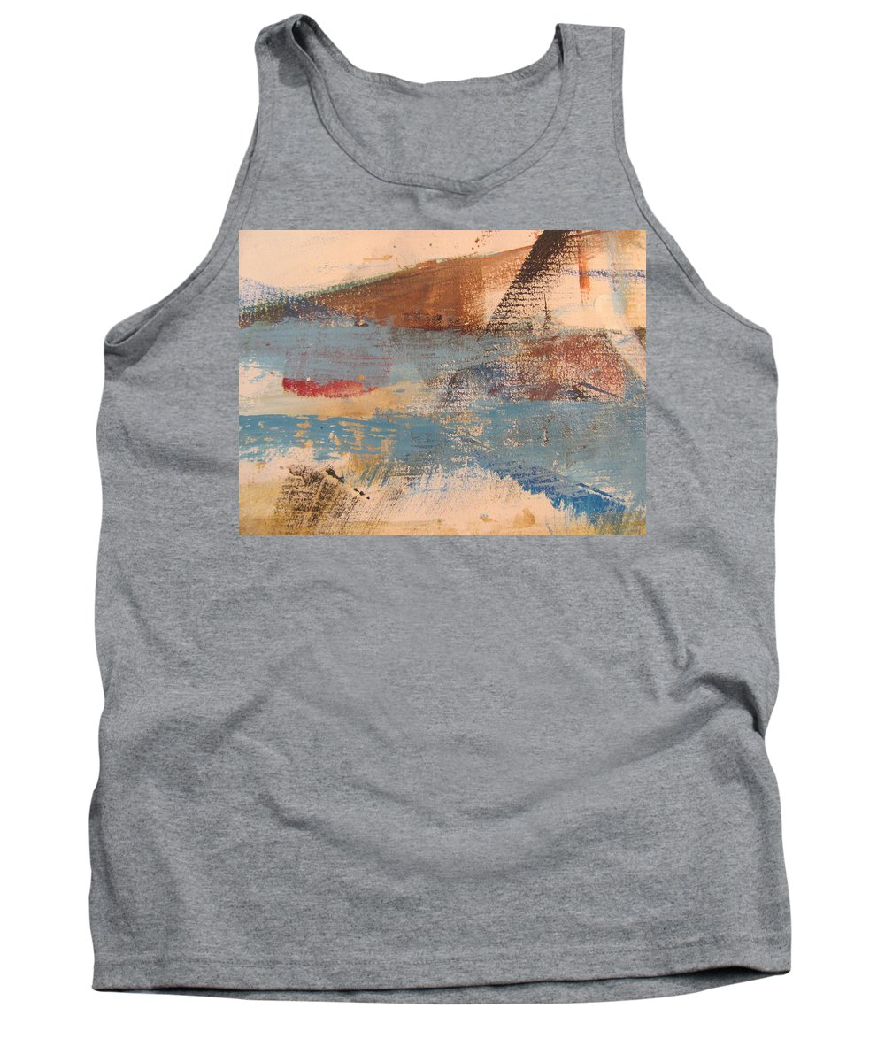 Abstract Tank Top featuring the painting Abstract At Sea 2 by Anita Burgermeister