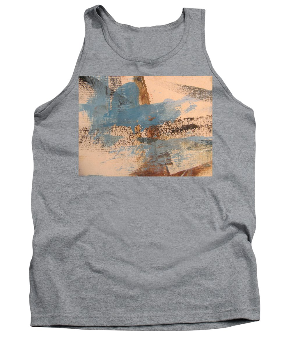 Abstract Tank Top featuring the painting Abstract At Sea 4 by Anita Burgermeister